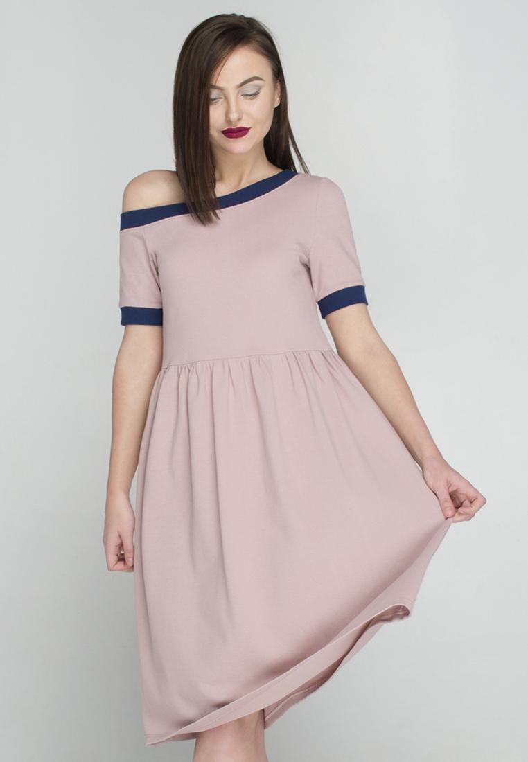 c047202b5c2 Нежное платье миди с открытым плечом — Повседневная женская одежда ...