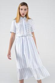 aa241366074 Платье-рубашка в полоску — Повседневная женская одежда от ...