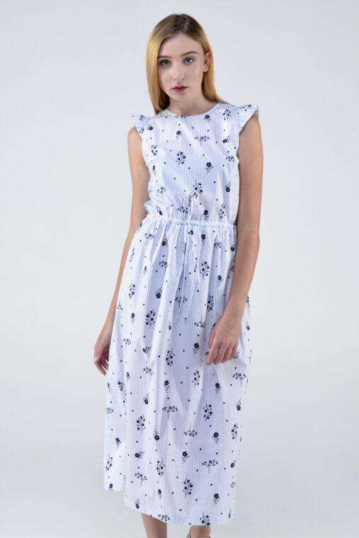 afced5a26b6 Платье-рубашка в клетку с рюшей по спинке — Повседневная женская ...
